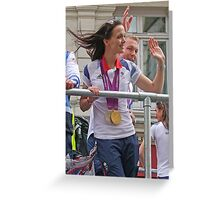 Victoria Pendleton And Sir Chris Hoy London 2012 Greeting Card