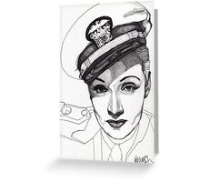 Marlene Dietrich Greeting Card