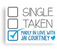 SINGLE TAKEN Madly in love with Jai Courtney Canvas Print