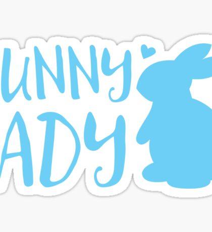 Bunny Lady cute in Blue Sticker