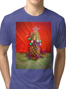Pineapple Christmas Tri-blend T-Shirt