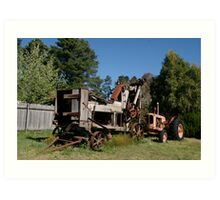 The new tractor Art Print