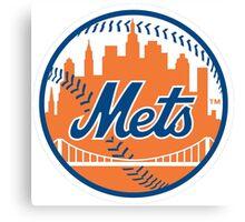 New York Mets Color Swap Logo Canvas Print