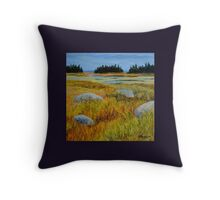 Salt Marsh on Shore Road Throw Pillow
