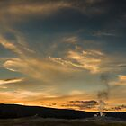 Sunset over Old Faithful by Chris Tarling