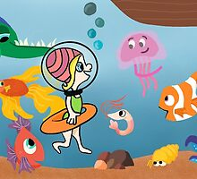 Diver Fishing Exploration by Dana Haswell