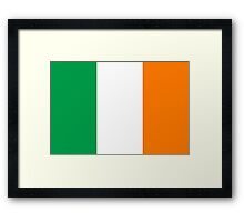 Flag of Ireland - High quality authentic version Framed Print