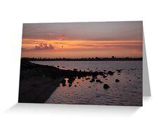 Sunset at NorthArm Greeting Card