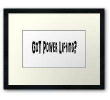 Power Lifting Framed Print