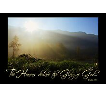 Heavens Declare the Glory of God (Card) Photographic Print