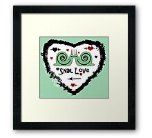 Snail Love Framed Print