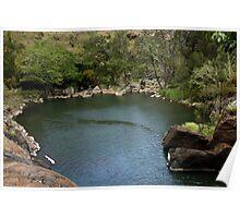 Little Millstream Falls Natural Rock Pool Poster