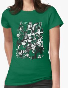 Help Doodle  Womens Fitted T-Shirt