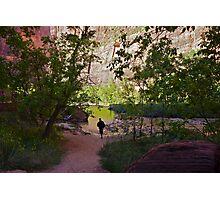 River Glow Photographic Print