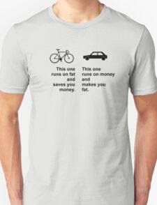 Difference between bikes and cars Unisex T-Shirt