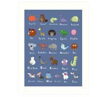 The Animal Alphabet Art Print