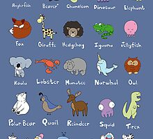 The Animal Alphabet by gillianjaplit