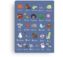 The Animal Alphabet Canvas Print
