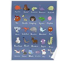 The Animal Alphabet Poster