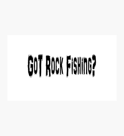 Rock Fishing Photographic Print