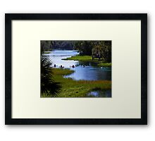 Let's Kayak! Framed Print