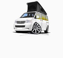 VW T5 California Camper Van White (10-Spoke Wheels) Unisex T-Shirt