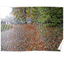 Cob web dew drops - Watts Gallery, Surrey - autumn 2012 Poster