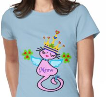 ㋡♥♫Swanky Irish Queen Cat Fantabulous Clothing & Stickers♪♥㋡ Womens Fitted T-Shirt