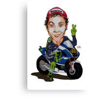 my tribute to Valentino Rossi Canvas Print