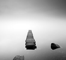 Loch Ard Jetty in the mist by Grant Glendinning