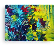FLORA - Gorgeous Lemon Lime Citrine Chartreuse Floral Bouquet Garden Flowers Colorful Nature Beauty Canvas Print