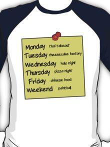 Sheldons Schedule  T-Shirt