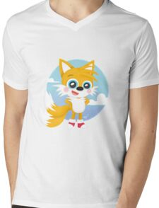 Tails - Sonic Games Mens V-Neck T-Shirt