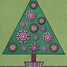 Christmas Tree Magenta by Simone Riley