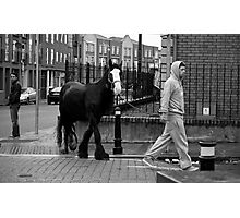 Walking the horse Photographic Print