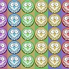 Rainbow Owls by Lilena