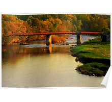 Autumn Day along the River Tees: Barforth Bridge, Gainford Poster