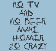 No TV and no Beer make Homer go crazy by womone