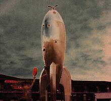 Raygun Gothic Rocketship San Francisco by TaraMosby