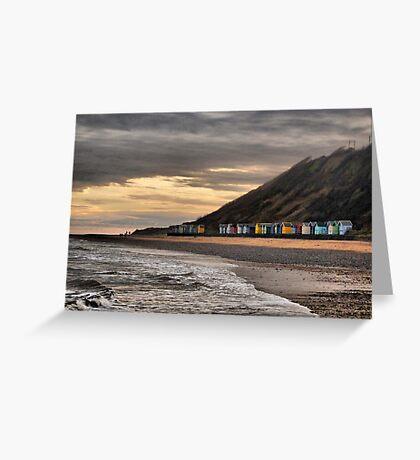 Beach Huts at Cromer  Greeting Card