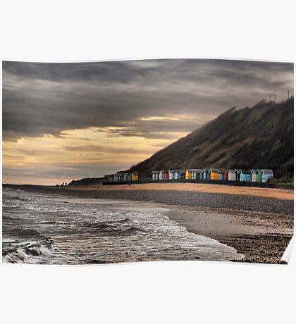 Beach Huts at Cromer  Poster