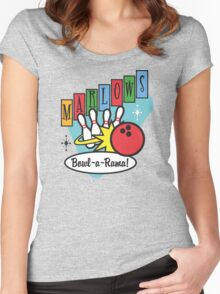 Retro Bowling Women's Fitted Scoop T-Shirt