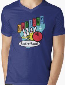 Retro Bowling Mens V-Neck T-Shirt