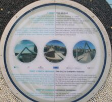Celtic Gateway Bridge - Information Panel Sticker