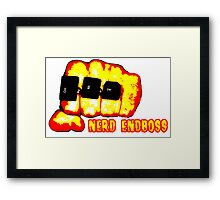 Nerd Endboss Framed Print
