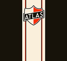 Art Deco Atlas Shield Logo by GriffintheMad