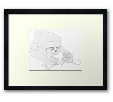 Christmas Claus Framed Print