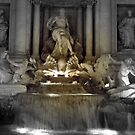 Trevi Fountain Rome at night by graceloves