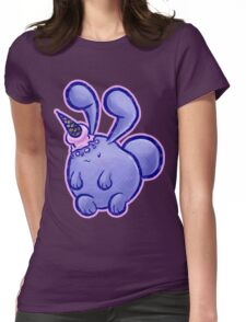 Purple Icecream Bunny Womens Fitted T-Shirt