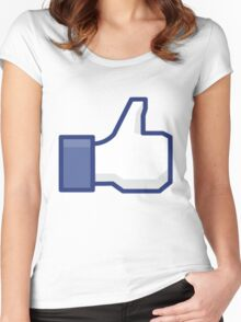 Facebook Like Women's Fitted Scoop T-Shirt